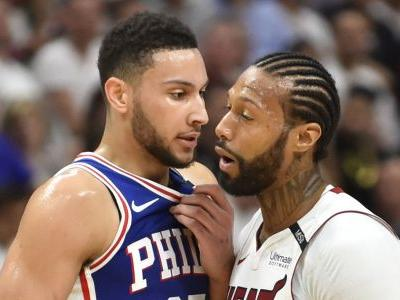 NBA playoffs 2018: Ben Simmons, James Johnson scuffle in Game 4
