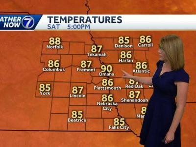 Sunny, hot and muggy weather for the 4th
