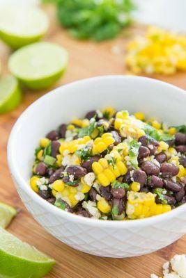 Mexican Street Corn Salad with Black Beans