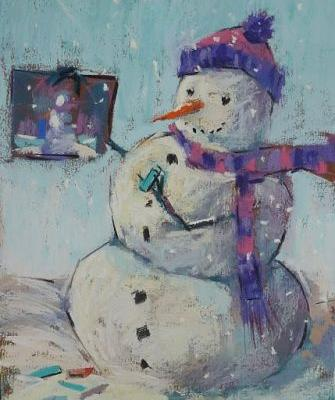 Let it Go with a Snow Person Painting!