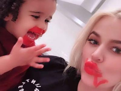 The Videos Of Dream Doing Her & Khloe Kardashian's Lipstick Solidify Her Cool-Aunt Status