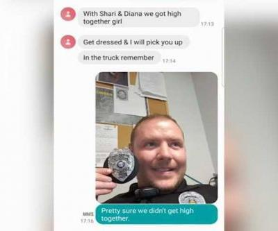'We got high together girl': Officer replies to wrong number text with picture of badge
