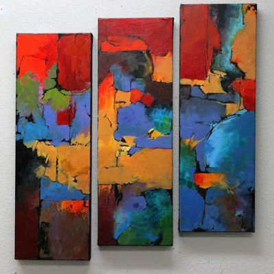 "Abstract Mixed Media Painting ""Having Fun"" by Colorado Mixed Media Abstract Artist Carol Nelson"