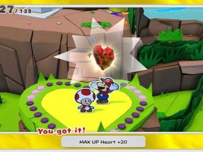 Paper Mario: The Origami King - All MAX UP Heart locations