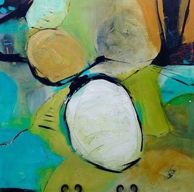 """Abstract Art, Expressionism, Contemporary Painting """"Footloose"""" by Contemporary Artist Maggie Demarco"""