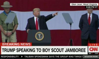 Trump's Speech to the Boy Scouts May Have Broken Boy Scout Rules