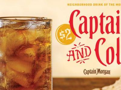 Applebee's $2 Captain & Cola For January 2019 Is Here For Your Next Happy Hour
