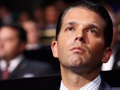 Donald Trump Jr. tells people to go out and vote for Virginia's Republican candidates on the wrong day