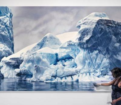 Monumental Pastel Drawings of Endangered Icebergs by Zaria Forman