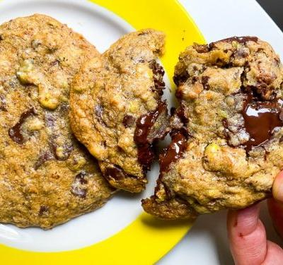Chocolate Chip Cookies with Toasted Coconut and Pistachios