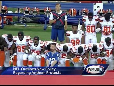 Mixed reaction to NFL's new policy on kneeling protests