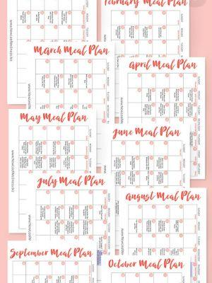A Year's Worth of Crockpot Freezer Meal Plans.for Free!