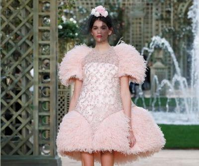 Kaia Gerber walks her first couture runway