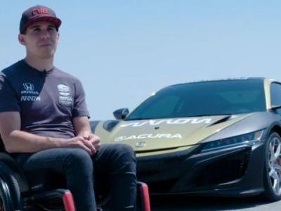 Robert Wickens is Driving on a Race Track Again