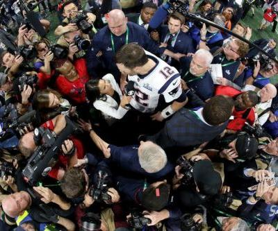 Twitter erupts as reporter tries to interview Tom Brady after Super Bowl