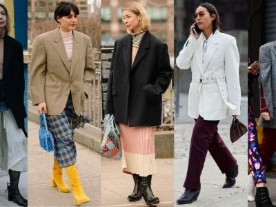 Big, Boxy Blazers Were a Street Style Favorite on Day 5 of New York Fashion Week