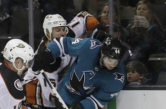 Hertl, Jones help Sharks finish sweep of Ducks with 2-1 win