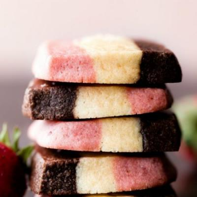 1 Dough Neapolitan Cookies