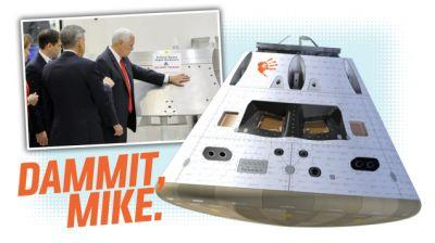 This Is The NASA Part Mike Pence Touched That He Wasn't Supposed To