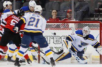 Blues' win streak ends at eight games with 4-2 loss to Devils