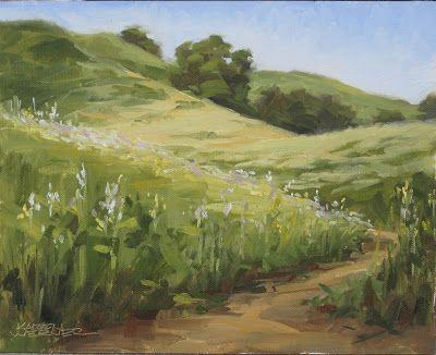 Spring Hills -a plein air painting from Chino HIlls State Park