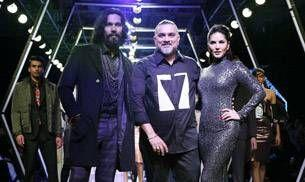 Sunny Leone, Randeep Hooda throw some shiny light on the LFW runway