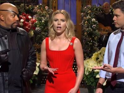 Thanos Dusts the SNL Cast in Scarlett Johansson's Monologue
