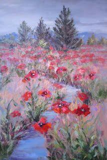 Visions of Poppies, New Contemporary Landscape Painting