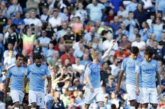 Man City falls just short of EPL record with 8-0 win