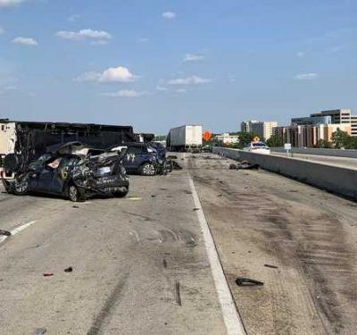 Mother, 18-month-old twin daughters die in fiery freeway crash in Indianapolis