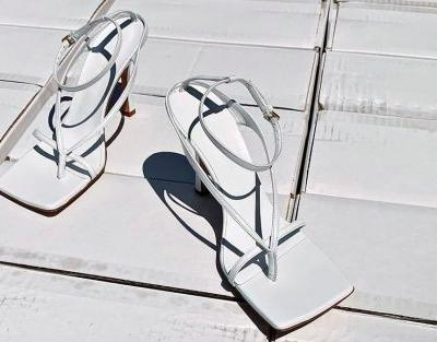 Ditch your basic pointy flats. Square-toed heels are all the rage now