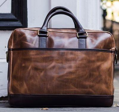 This startup's leather briefcase is the most luxurious we've tried for under $250