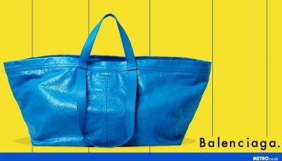 If you've ever fancied buying a £1,600 version of the IKEA big blue bag, Balenciaga's got you covered