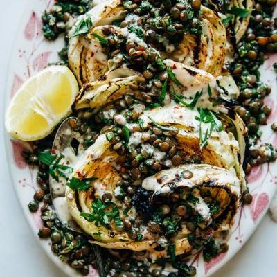 Switch Up Your Grill Routine with Grilled Cabbage Steaks and Spicy Chimichurri Lentils