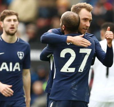 Swansea City 0 Tottenham 3: Eriksen leads Kane-less Spurs into FA Cup semis