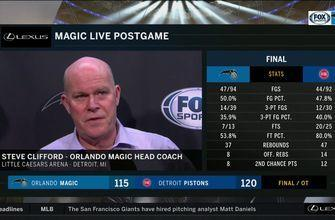 Steve Clifford on loss to Pistons: 'They're a good defensive team'