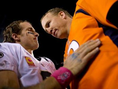 WATCH: Peyton Manning offers hilarious congratulations to Saints QB Drew Brees