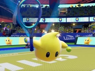 Rosalina's quest for world domination continues as her buddy Luma enters Mario Tennis Aces