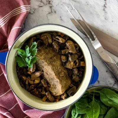 Slow Cooker Beef & Mushrooms