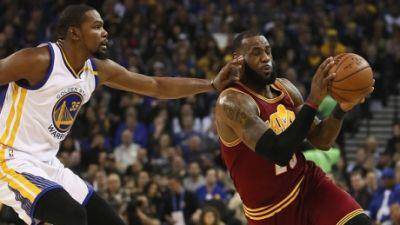 Warriors destroy defending champion Cavaliers in rematch