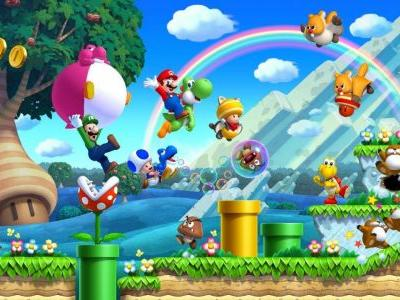 New Super Mario Bros. U Jumping to Switch