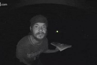 For the second time in as many months, a man has been recorded on home security video going in to lick a doorbell