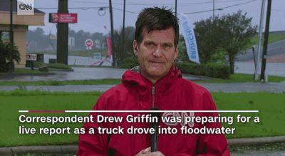 CNN Reporter Rushes To Rescue Man Who Drove Truck Into Flooded Ravine During Broadcast
