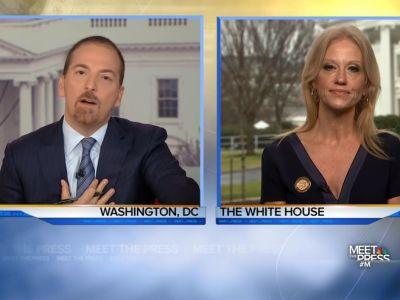 'Alternative facts are not facts. They're falsehoods': Chuck Todd blasts Trump adviser over dubious briefing claims