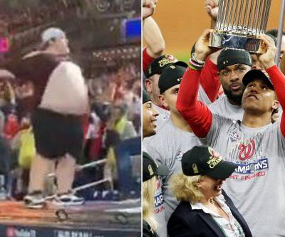 Topless Nationals fan goes wild in World Series celebration