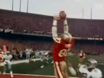 Late 49ers legend Dwight Clark's ashes buried next to goal post from 'The Catch'