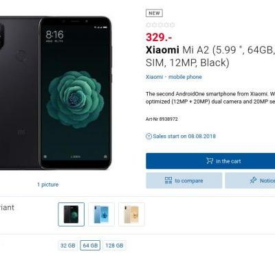 Xiaomi Mi A2 Appears Online With Pricing & Release Date