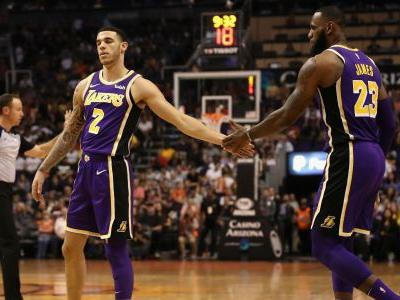LeBron James, Lonzo Ball first Lakers teammates since 1982 to post triple-doubles in same game
