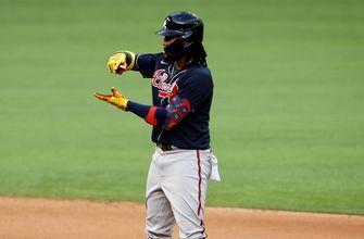 Ronald Acuña Jr. RBI double cuts Dodgers' NLCS Game 6 lead over Braves to 3-1
