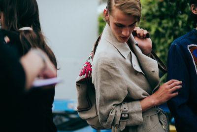 Behind the Scenes of J.W. Anderson's Refreshingly Normal 2018 Spring/Summer Pitti Presentation